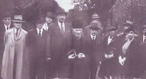 Leo Funke at ceremony to honour Herzl