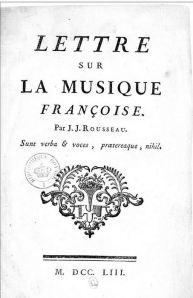 Rousseau Letter de Music